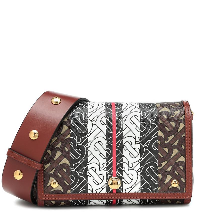 Burberry Monogram Stripe e-canvas shoulder bag in brown