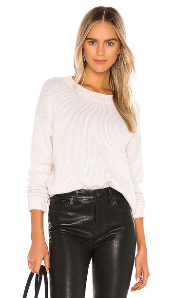 One Grey Day Lyle Cashmere Pullover Sweater in White