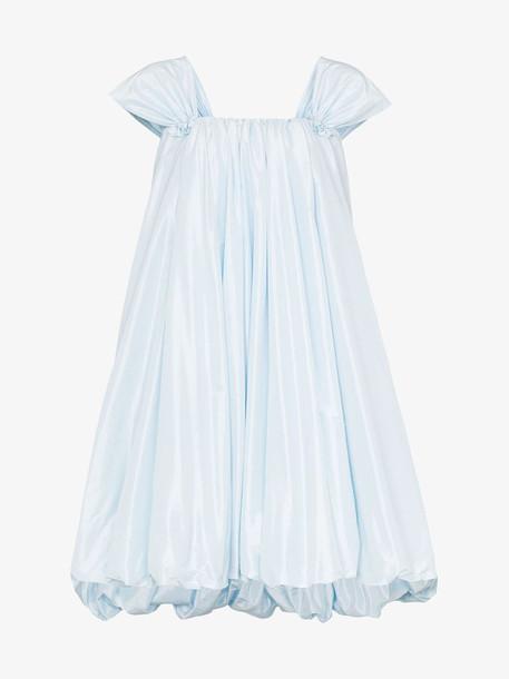 Simone Rocha bubble hem mini dress in blue