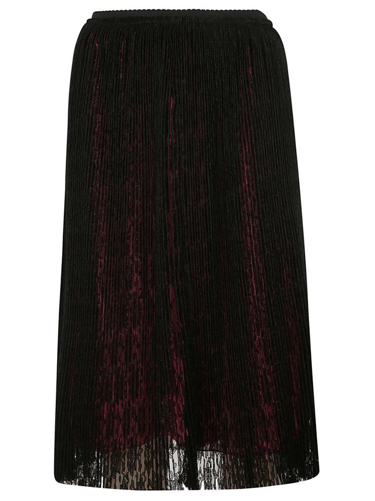 Marco De Vincenzo Pleated Skirt in black