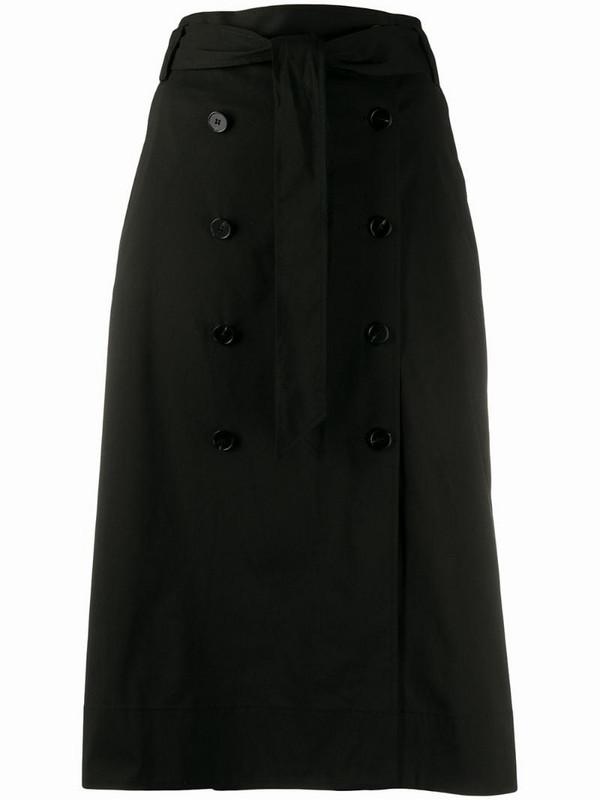 Steffen Schraut double breasted straight skirt in black