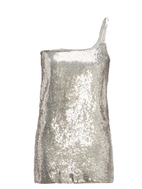 William Vintage - Gucci 1998 Sequinned Mini Dress - Womens - Silver