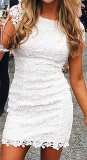 dress,white,white dress,lace dress,lace,love,boho dress,dressofgirl,prom dress,cute dress
