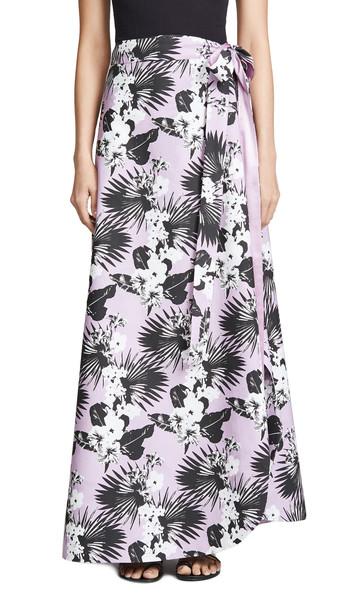 Viva Aviva Kawai Tropical Wrap Skirt in lavender