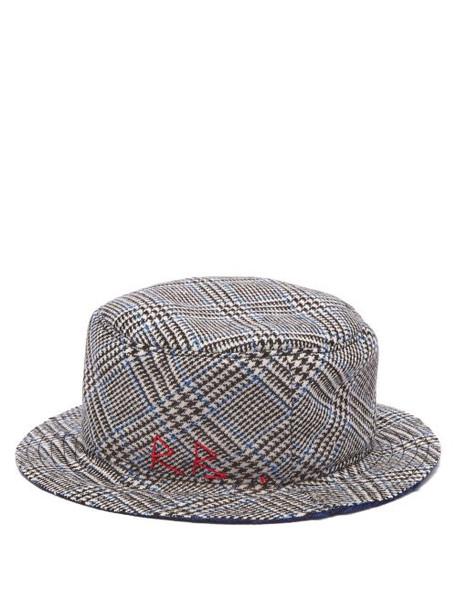 Ruslan Baginskiy - Prince Of Wales Checked Wool Bucket Hat - Womens - Multi