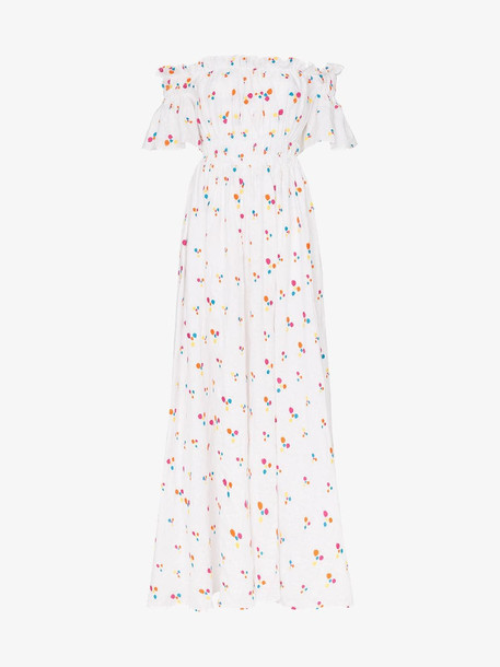 All Things Mochi Nana printed maxi dress in white