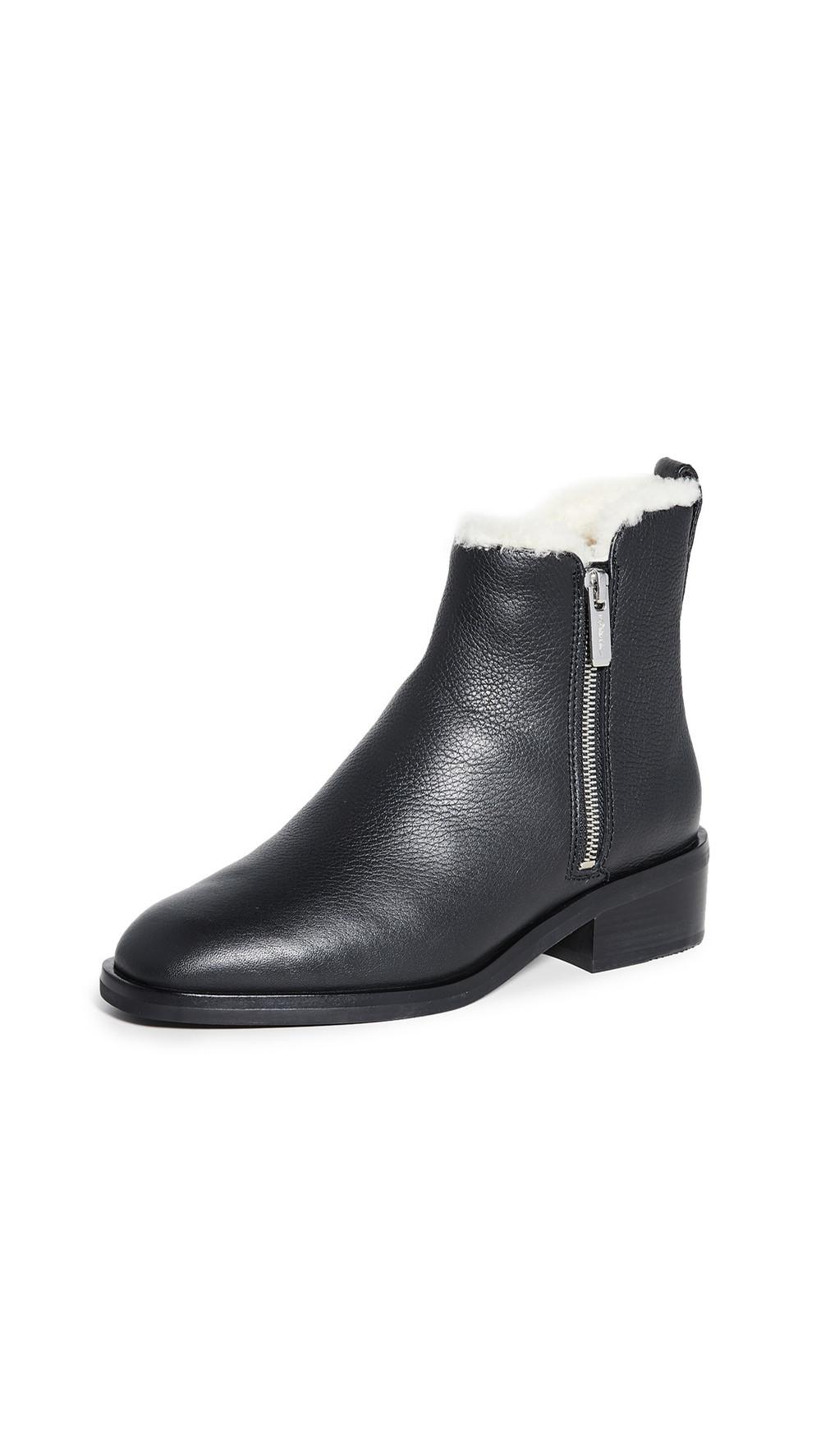 3.1 Phillip Lim 40mm Alexa Shearling Boots in black
