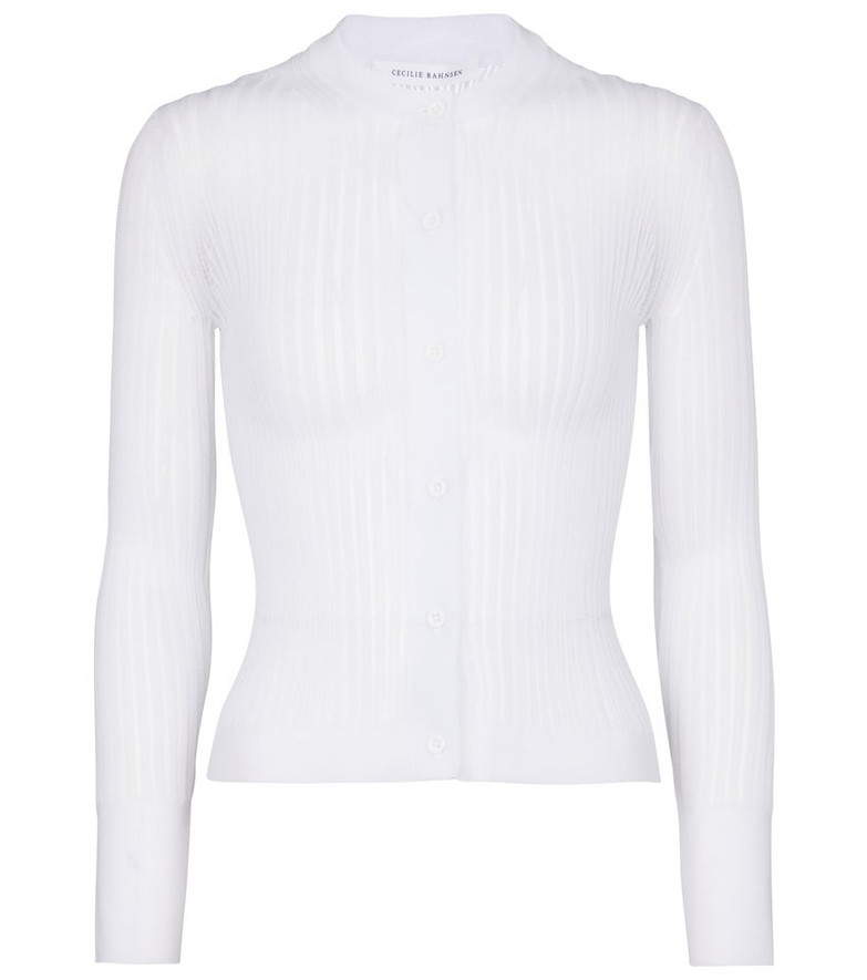 Cecilie Bahnsen Felicity ribbed-knit cardigan in white