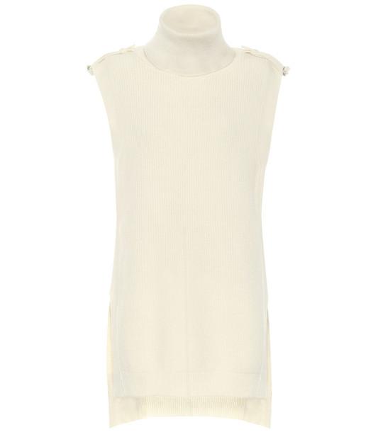 Stella McCartney Sleeveless wool top in white