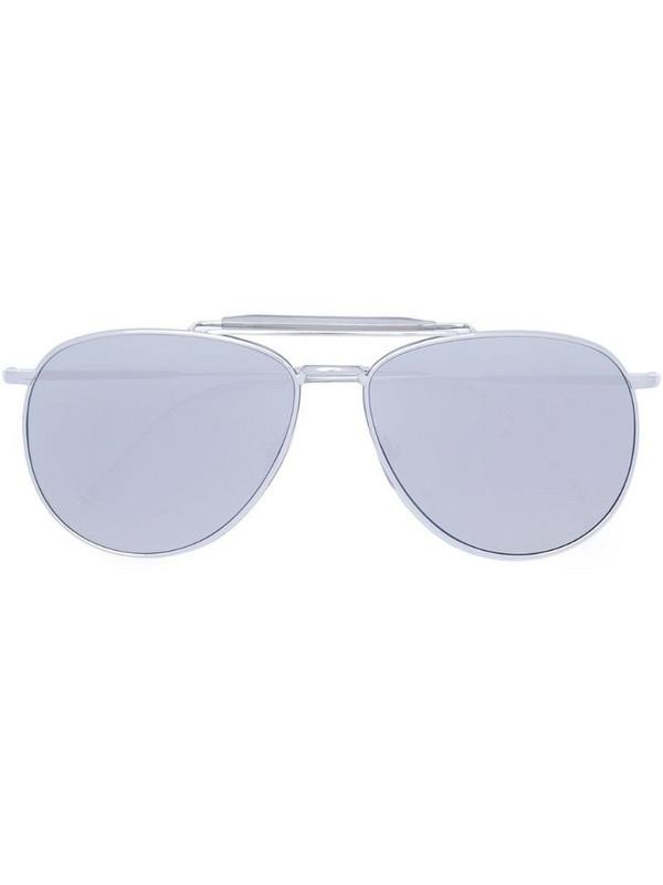 Thom Browne Eyewear aviator-frame sunglasses in metallic