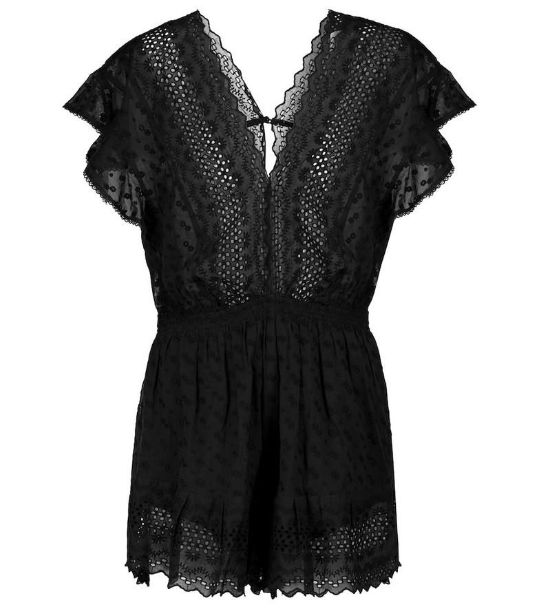 Isabel Marant, Étoile Tadeo cotton playsuit in black