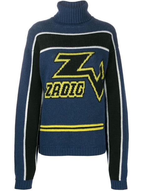 Zadig&Voltaire D-Roy Biker sweater in blue