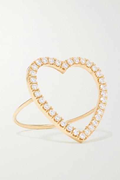 Jennifer Meyer - Open Heart 18-karat Gold Diamond Ring