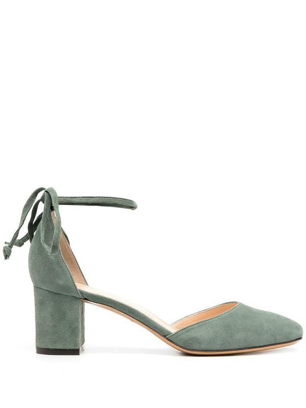 Tila March Varazze block-heel pumps in green