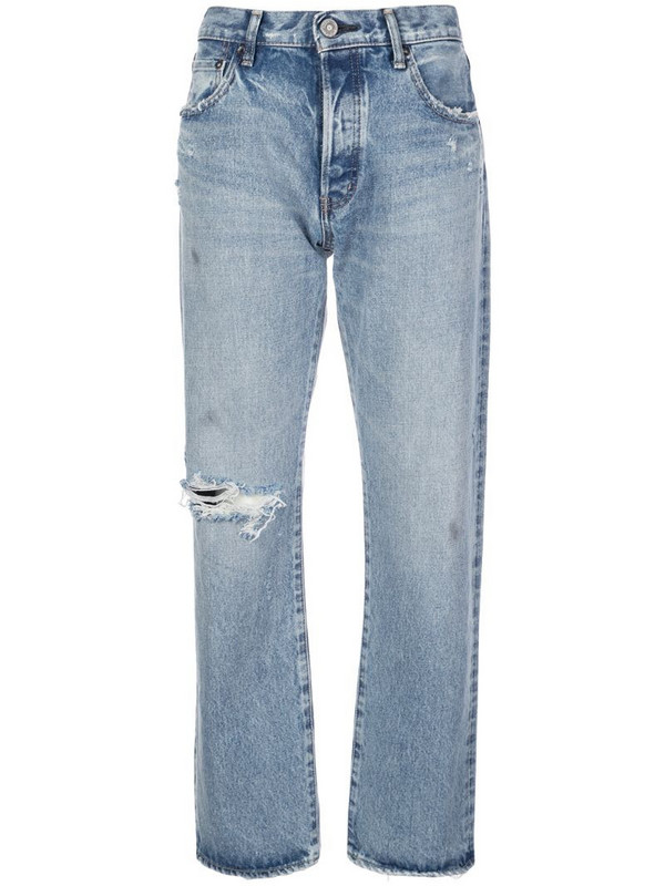 Moussy Vintage Hesperia straight jeans in blue