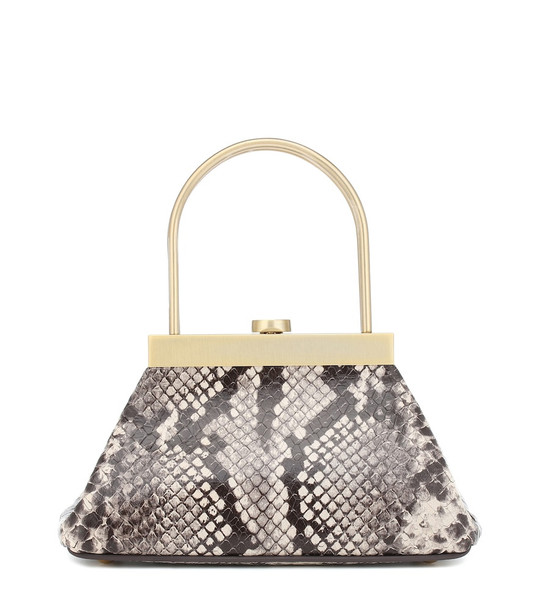 Cult Gaia Estelle Mini snake-effect tote in grey