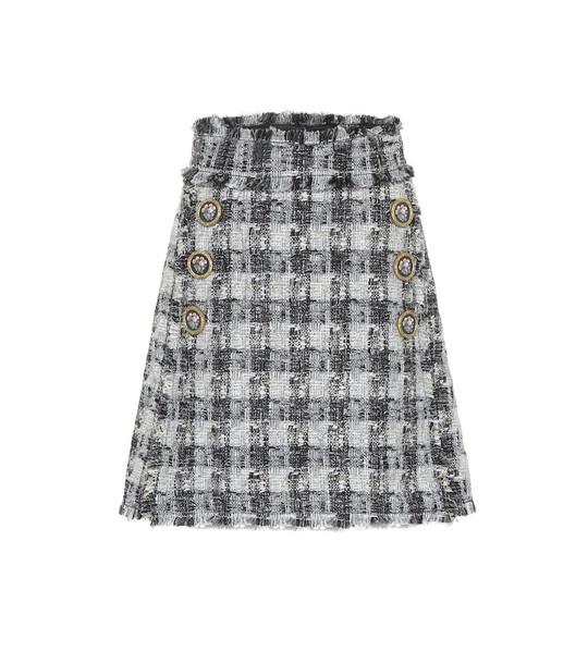 Dolce & Gabbana Tweed miniskirt in grey