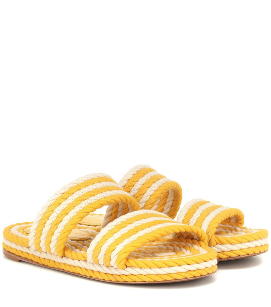Zimmermann Rope sandals in yellow