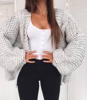 cardigan,grey cardigan,sweater