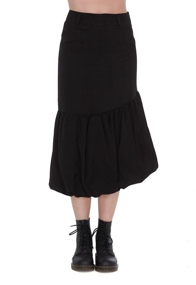 We11 Done Midi Skirt in black