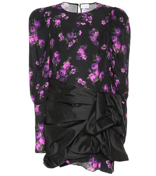 Magda Butrym Matera floral silk minidress in black