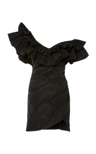 Alexis Benicia Asymmetric Dramatic Ruffle Mini Dress Size: M in black