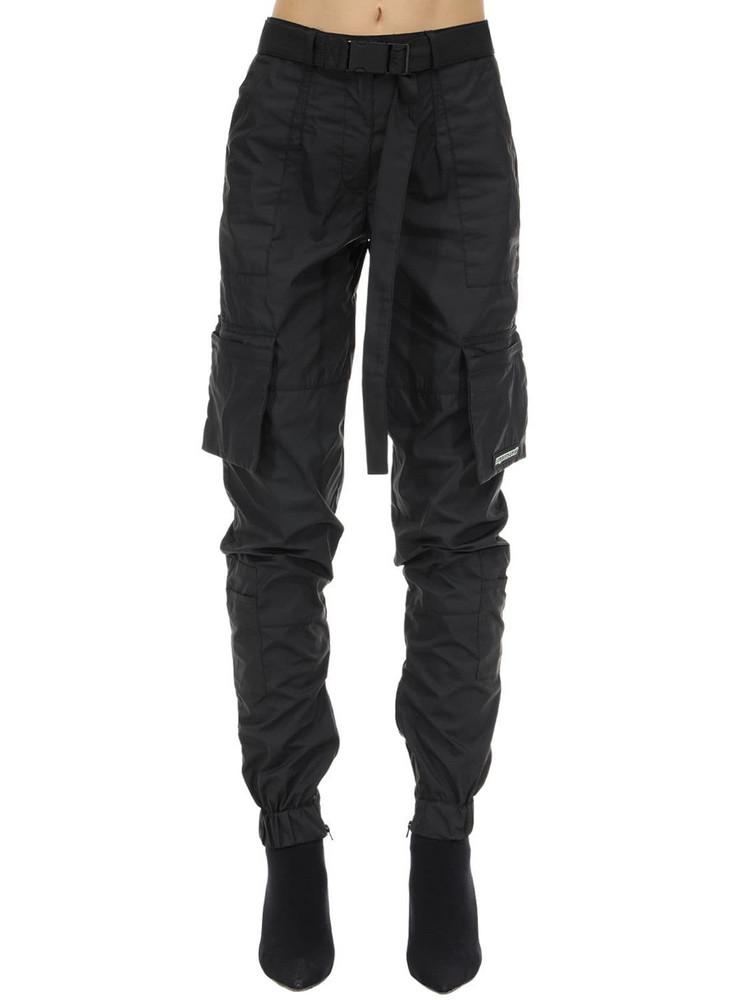 REPRESENT Nylon Cargo Pants in black