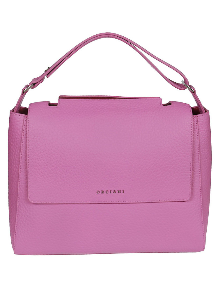 Orciani Foldover Logo Tote in pink