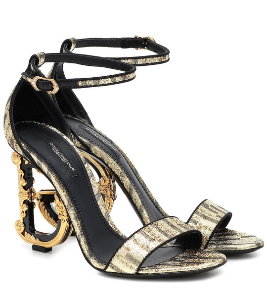 Dolce & Gabbana Keira 105 baroque metallic sandals