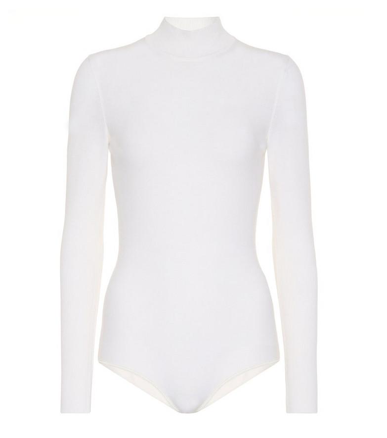 Alaïa Wool-blend bodysuit in white