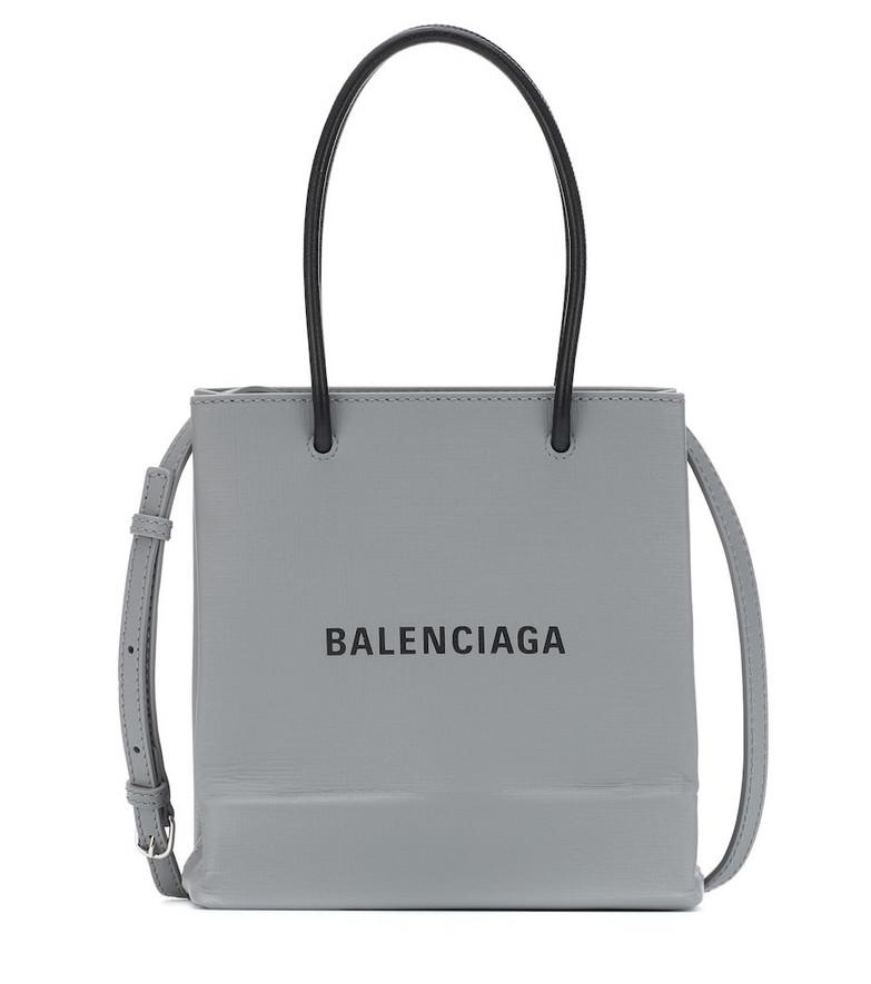 Balenciaga Shopping XXS leather tote in grey