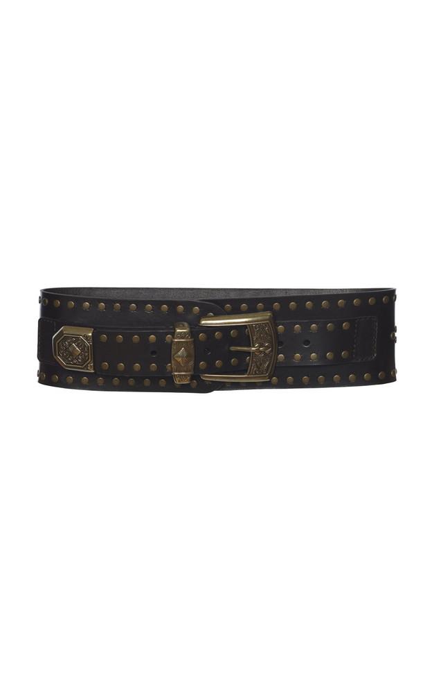 Etro Studded Waist Leather Belt in brown