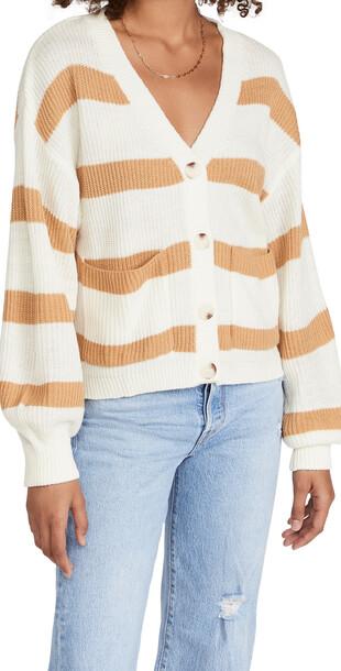Moon River Striped Sweater in mustard / multi