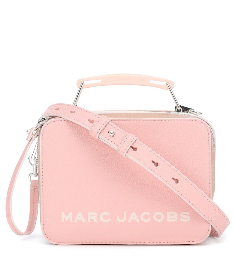 Marc Jacobs Box Mini leather shoulder bag in pink