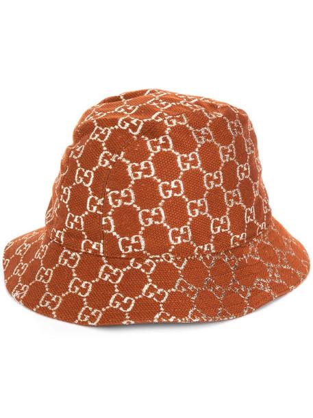 Gucci GG Supreme bucket hat in brown