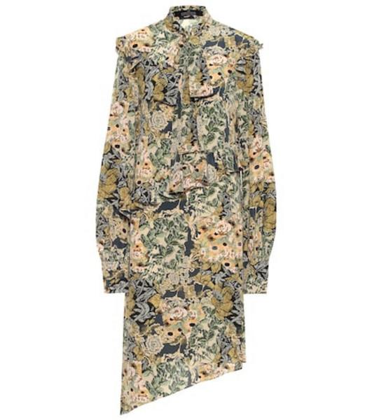 Rokh Floral silk crêpe de chine dress