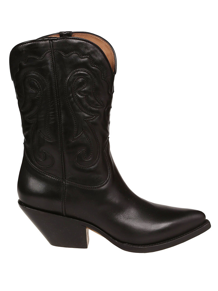 Buttero Almond Toe Ankle Boots in nero