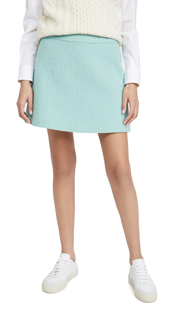 A.P.C. A.P.C. Jupe Wright Skirt in turquoise