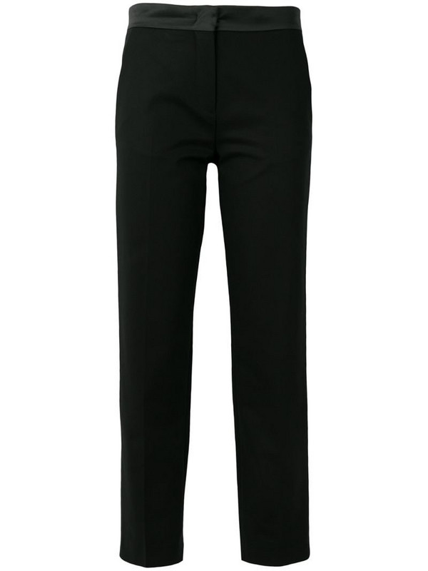 Moncler cropped tailored trousers in black
