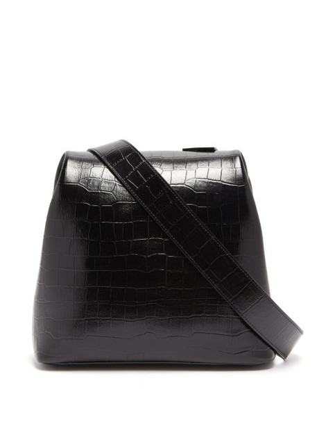 Osoi - Brot Crocodile Effect Leather Cross Body Bag - Womens - Black