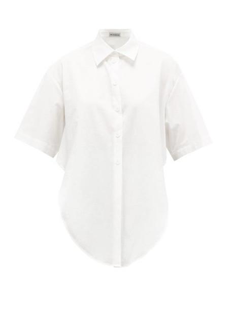 Vika Gazinskaya - Tie-front Cotton Shirt - Womens - White