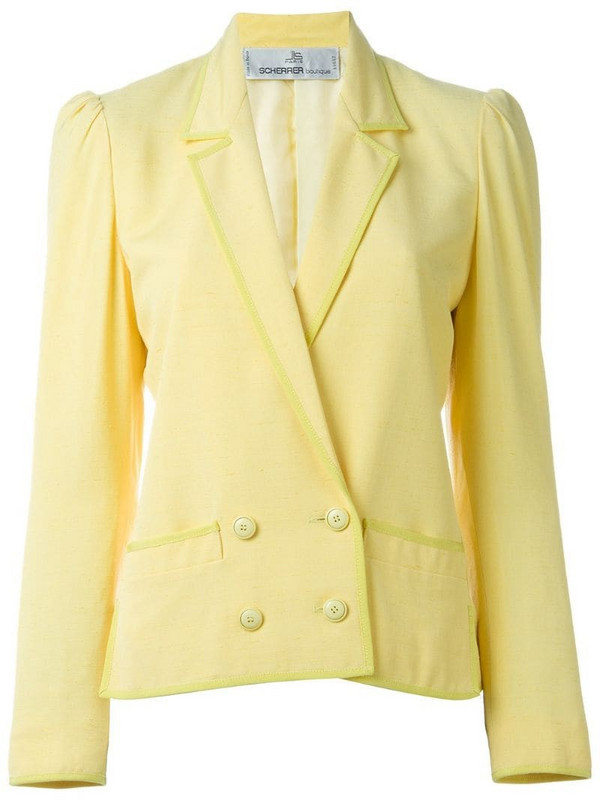 Jean Louis Scherrer Pre-Owned double breasted blazer in yellow