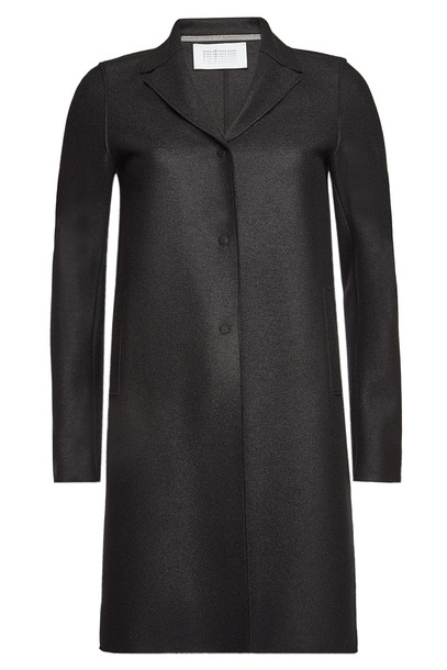 Harris Wharf London Virgin Wool Coat  in black