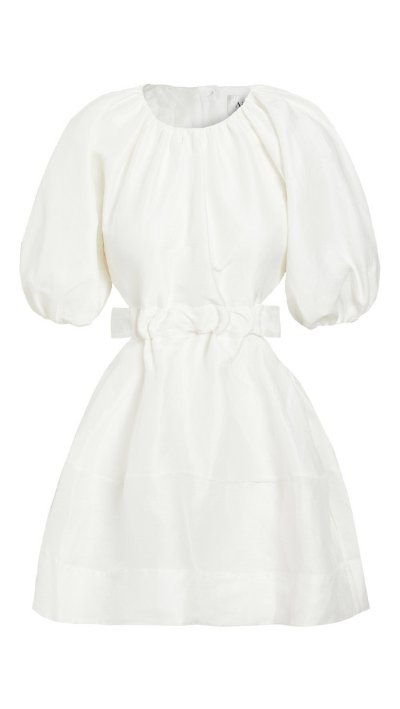 Aje Psychedelia Cut Out Mini Dress in white