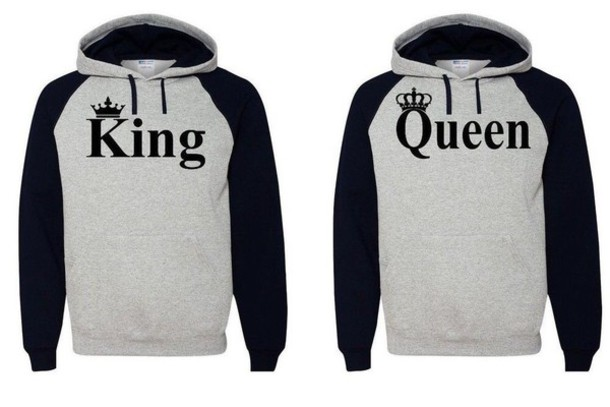 jacket black and white king and queen couple sweaters boyfriend ebay king queen couple matching couples sweater hoodie