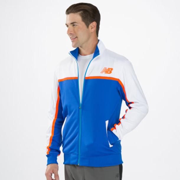 New Balance 4191 Men's NB Classic Track Jacket - Cobalt Blue, White, Shocking Orange (MFJ4191CBT)