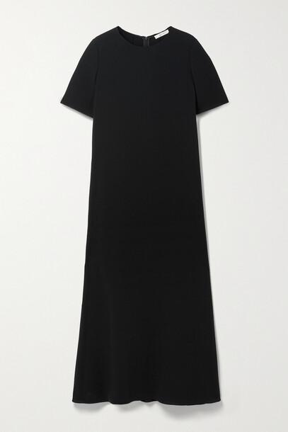 The Row - Robi Crepe Midi Dress - Black