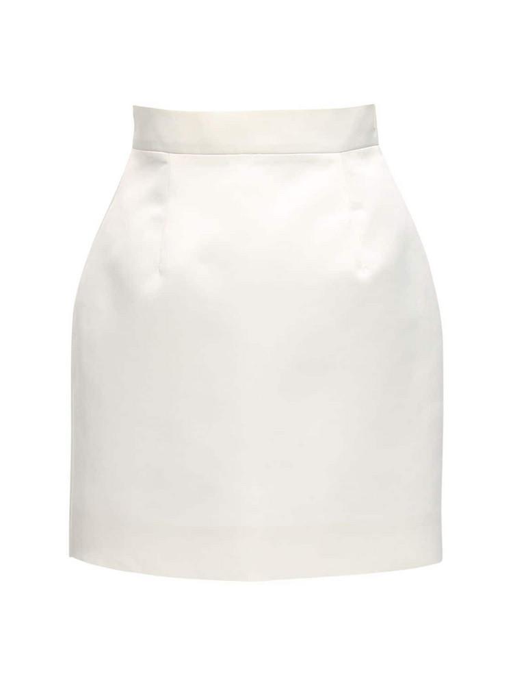 MATÉRIEL Heavy Satin Mini Skirt in white