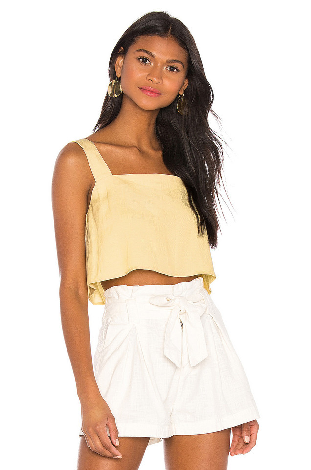 Capulet Esme Cropped Camisole in yellow