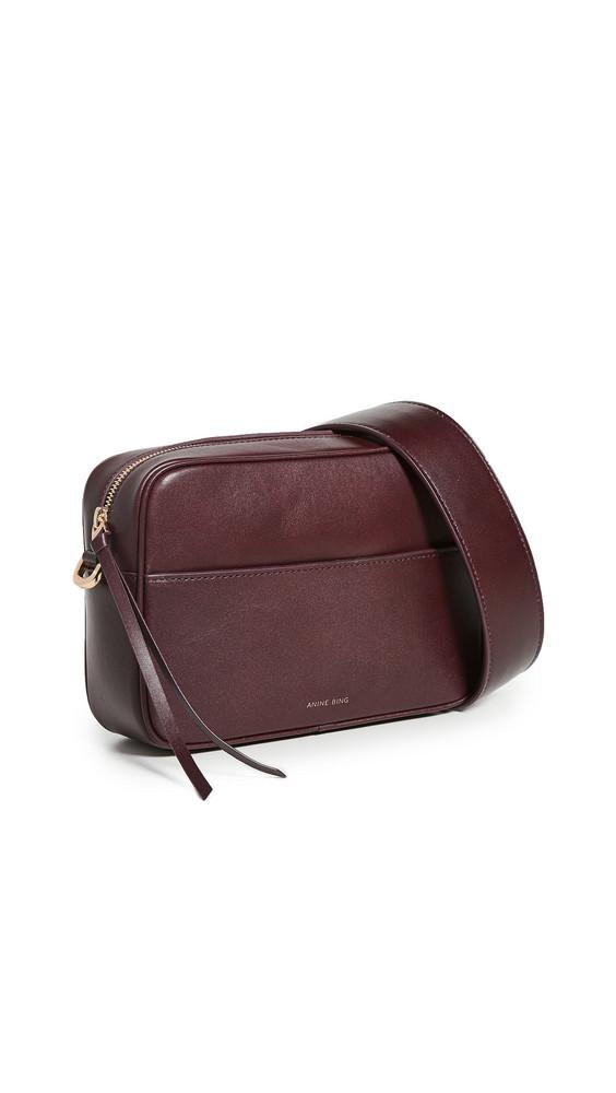 ANINE BING Alice Bag in burgundy